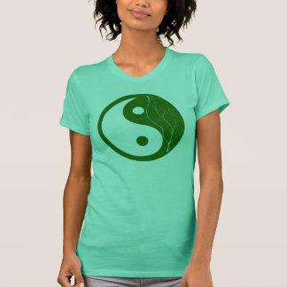 Green Leaf Yin Yang T-Shirt