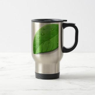 Green Leafs Stainless Steel Travel Mug