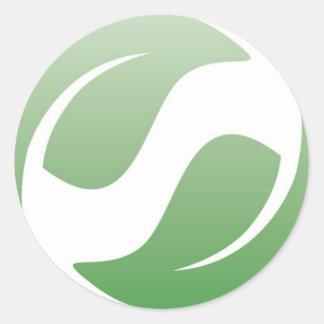 green leafs round stickers