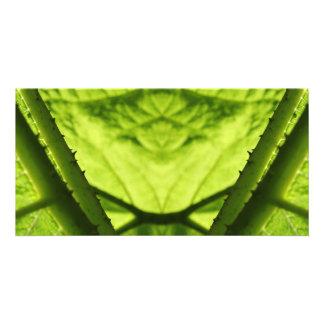Green Leafy Digital Art. Photo Greeting Card