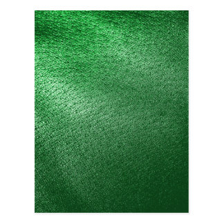 Green Leather Look Postcard