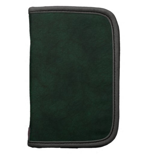 Green Leather Monogramed Organizers