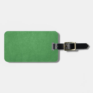 green leather texture luggage tag