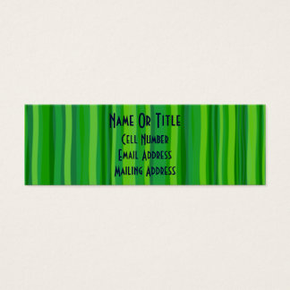 Green Leave & Stripes Mini Business Card