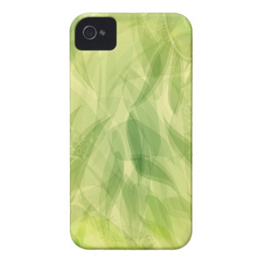 Green Leaves Abstract Art iPhone 4 Cases