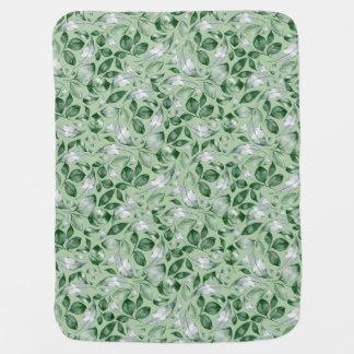 Green leaves baby blanket