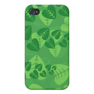 Green Leaves Background iPhone 4/4S Covers