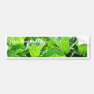 Green Leaves Car Bumper Sticker