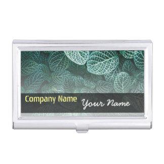 Green Leaves business card Holder