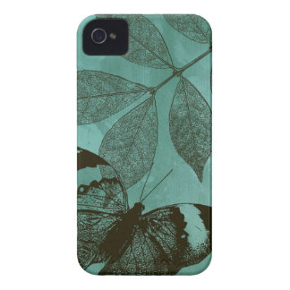 Green Leaves Butterfly iPhone 4 Covers
