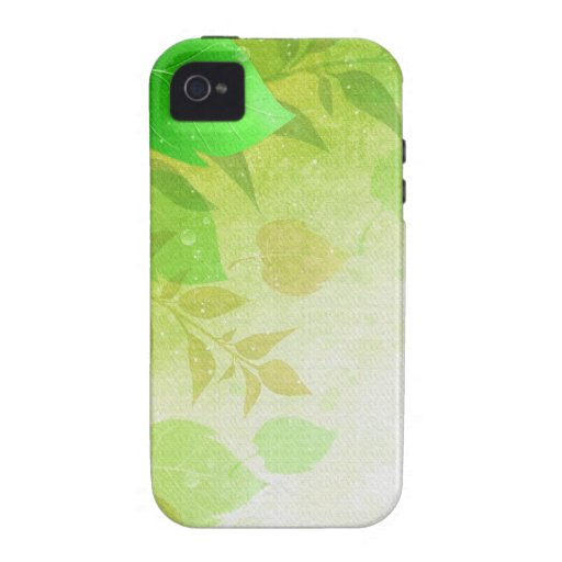 green leaves iPhone 4/4S cases