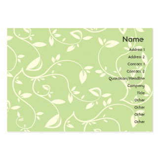 Green Leaves - Chubby Pack Of Chubby Business Cards