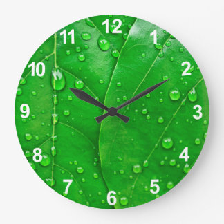 Green Leaves Clock