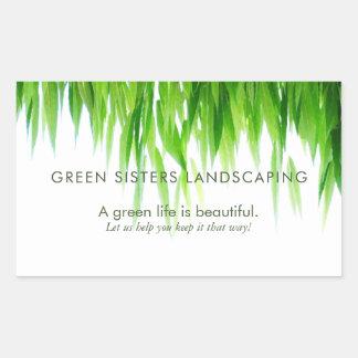 Green Leaves Earth Friendly Design Rectangular Sticker
