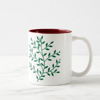 Green leaves green olive branch leaf decor coffee mug