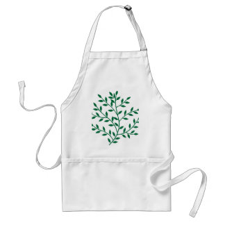Green leaves green olive branch leaf decor standard apron