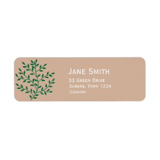 Green leaves greenie environmentalist return address label
