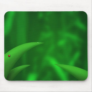 Green Leaves in the Jungle Mouse Mat