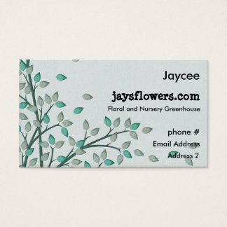 Green Leaves Leaf Floral Nursery Business Cards