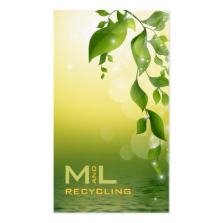 Green Leaves Pack Of Standard Business Cards