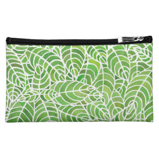 Green Leaves Palm Room Cosmetics Bag