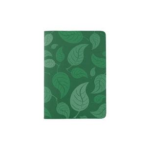 Green leaves passport holder