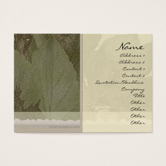 Green Leaves Profile Card
