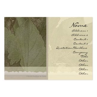 Green Leaves Profile Card Pack Of Chubby Business Cards