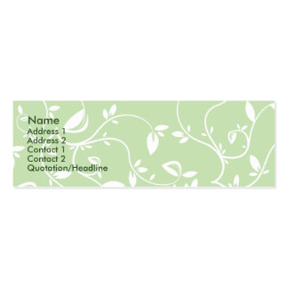 Green Leaves - Skinny Business Card Template