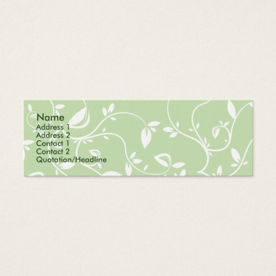 Green Leaves - Skinny Mini Business Card