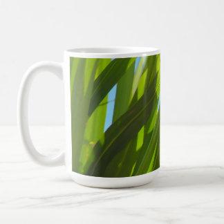 Green Leaves, Sunlight and Blue Sky Basic White Mug