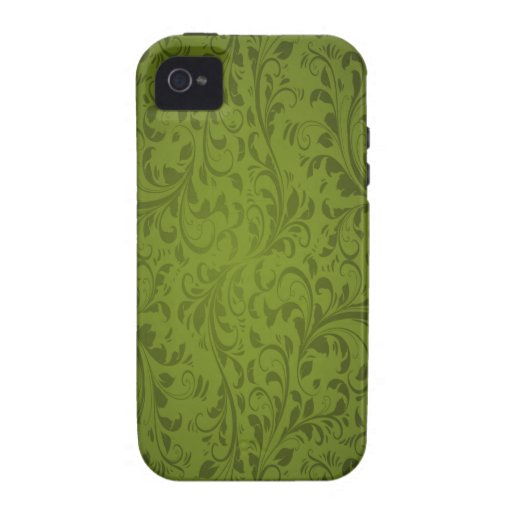 Green Leaves Swirls Case-Mate iPhone 4 Cover