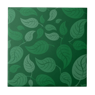 Green leaves tile