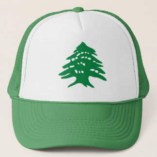 Green Lebanon Cedar Tree Trucker Hat