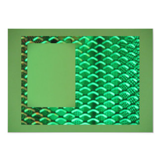 Green LED Wash Lighting 13 Cm X 18 Cm Invitation Card