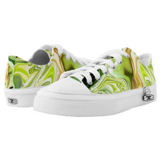 Green leek abstract sneakers