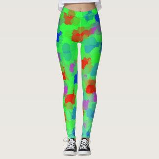 green Leggings modern trendy pattern elegant