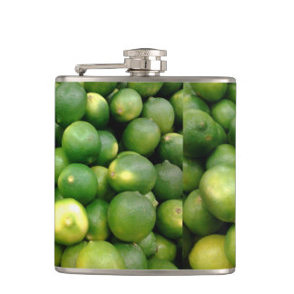 Green Lemons Hip Flasks