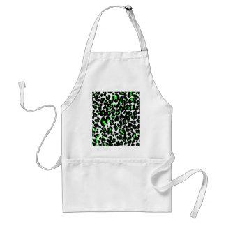 Green Leopard Pattern Standard Apron