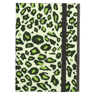 Green leopard print iPad air cover