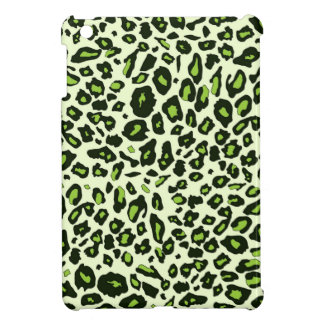 Green leopard print iPad mini cover
