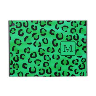 Green Leopard Print with Custom Monogram. iPad Mini Case