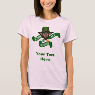 Green leprechaun kiss my shamrocks T-Shirt