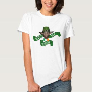 Green leprechaun kiss my shamrocks T-Shirt