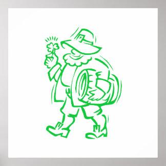 Green Leprechaun Posters