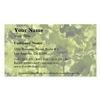 Green lettuce business cards