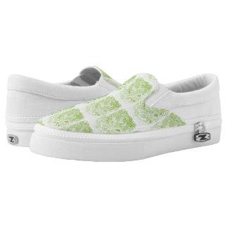 Green Lettucy Slip-On Shoes