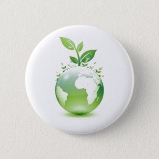 Green Life 6 Cm Round Badge