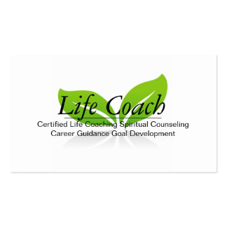 Green Life Coach Spiritual Counseling Guidance Business Cards