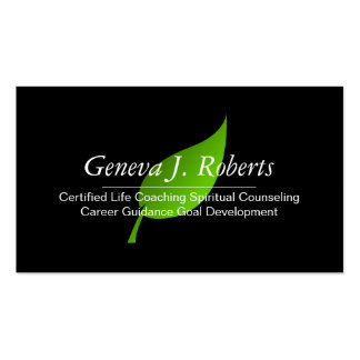 Green Life Coach Spiritual Counseling Guidance Business Card Templates
